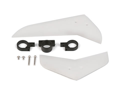 EK1-0545 - Vertical & Horizontal Tail Fin Set (White)