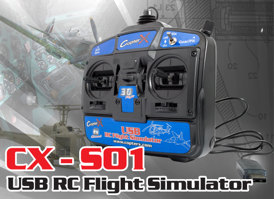 CX-S01 - 6 Channal vol 3D USB RC Simulateur de vol PC