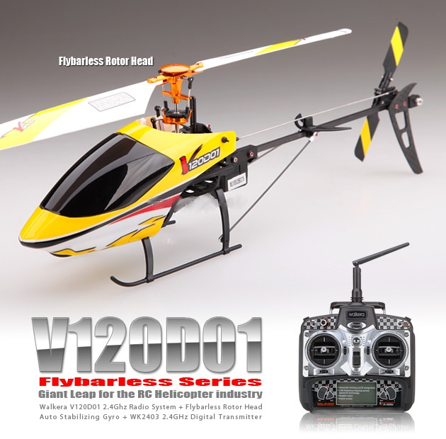 HMV120D01 - Helicopter Flybarless Brushless (2.4Ghz Edition)