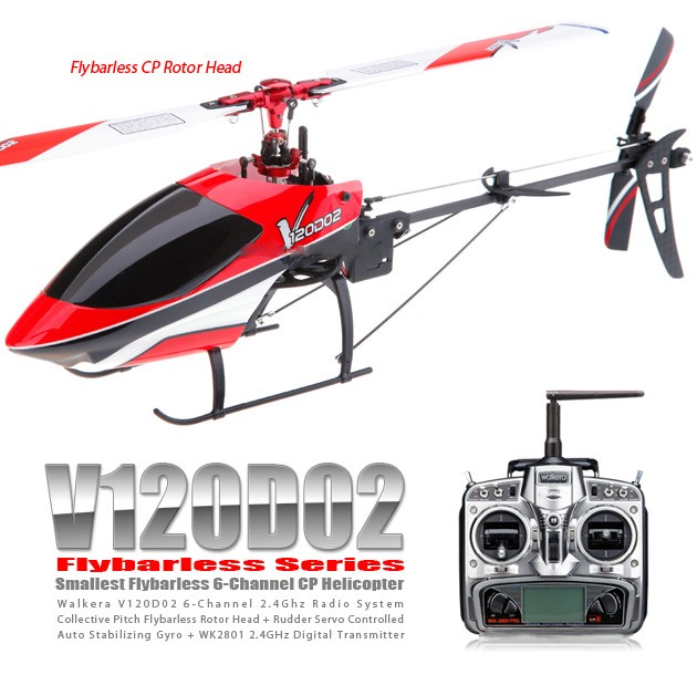 HMV120D02 - Helicopter Flybarless + WK2801PRO (2.4Ghz Red Special Edition 2011)