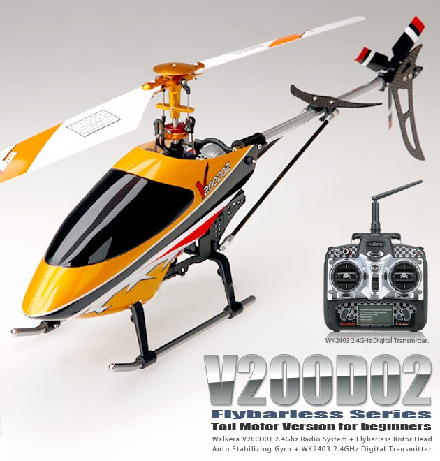 HM-V200D02 - H�licopt�re Flybarless 2011 (2.4Ghz Edition)